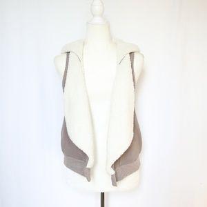 Splendid Reversible Hoodie Vest Jacket Small